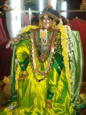 Srivilliputtur Andal in Pachai