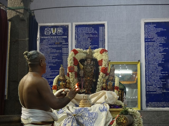 Mylapore SVDD Srinivasa Perumal  May 30,2014 Vaigasi Maasam Bhrahmotsavam Dwajarohanam and DAY 1 morning CHAPARAM 15