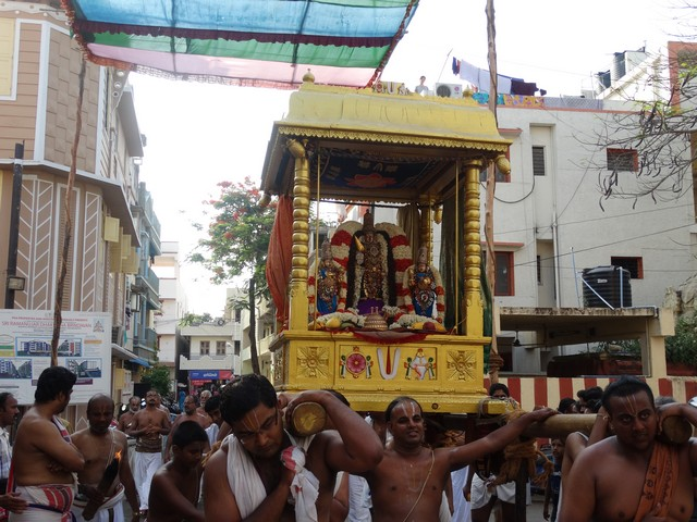 Mylapore SVDD Srinivasa Perumal  May 30,2014 Vaigasi Maasam Bhrahmotsavam Dwajarohanam and DAY 1 morning CHAPARAM 46