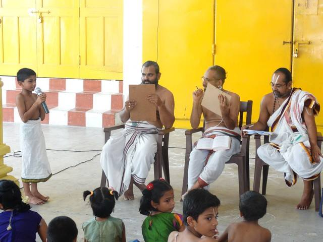 Mylapore SVDD Sri Srinivasa Perumal Temple Desika Prabandham And Stothram Competition For Children  07-09-2014  08