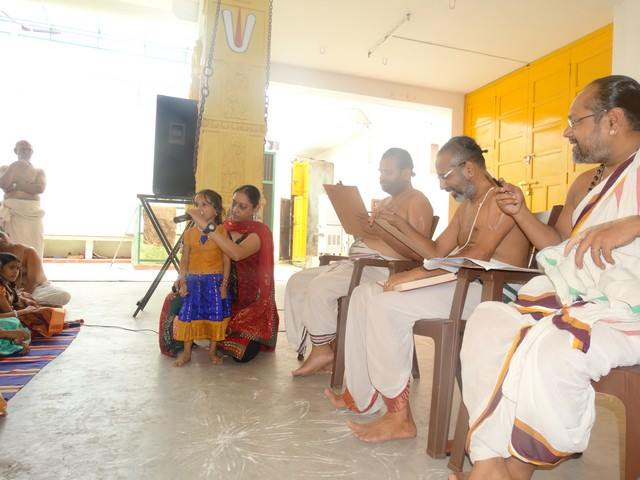 Mylapore SVDD Sri Srinivasa Perumal Temple Desika Prabandham And Stothram Competition For Children  07-09-2014  10