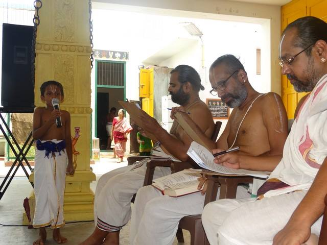 Mylapore SVDD Sri Srinivasa Perumal Temple Desika Prabandham And Stothram Competition For Children  07-09-2014  13