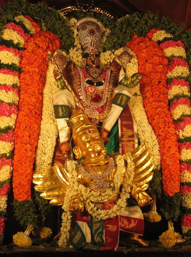 Pondicherry Hayagreevar Sannadhi Day 4 Garuda Sevai 2014 15