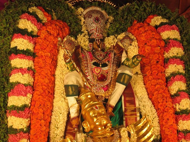 Pondicherry Hayagreevar Sannadhi Day 4 Garuda Sevai 2014 17