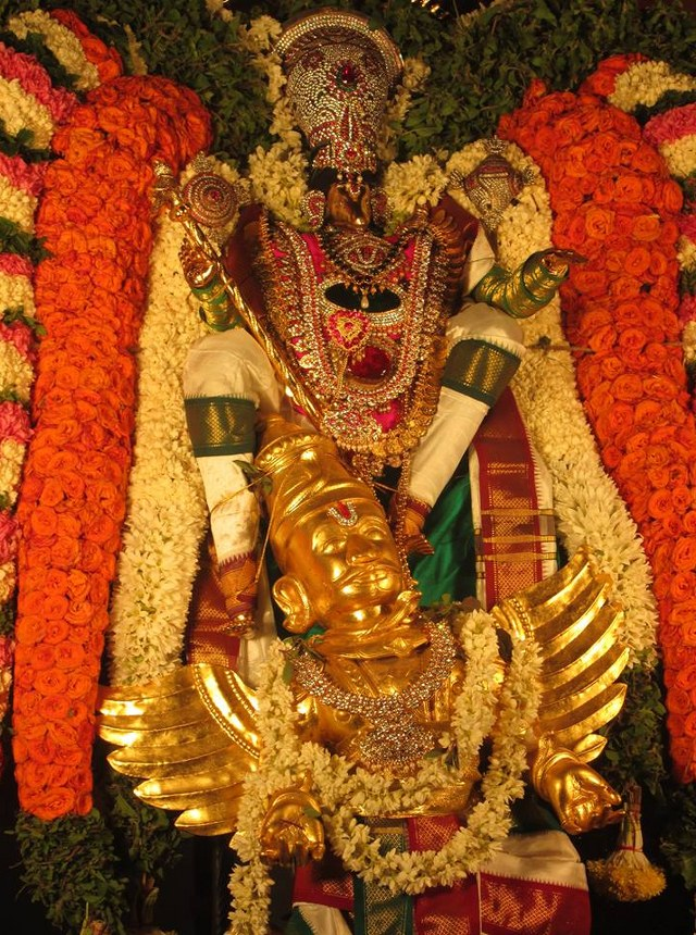 Pondicherry Hayagreevar Sannadhi Day 4 Garuda Sevai 2014 22