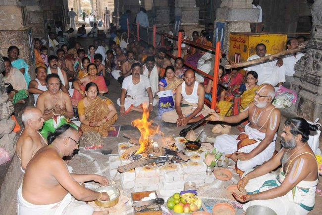 Swathi Sudharshana Homam at Lower ahobilam 2014 07