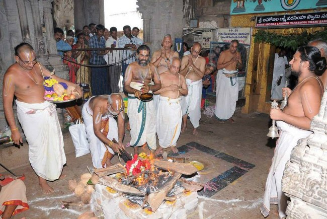 Swathi Sudharshana Homam at Lower ahobilam 2014 09