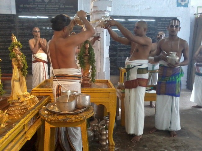 THiruvekka Poigai Azhwar Avatara utsavam day 10  morning thirumanjanam 10
