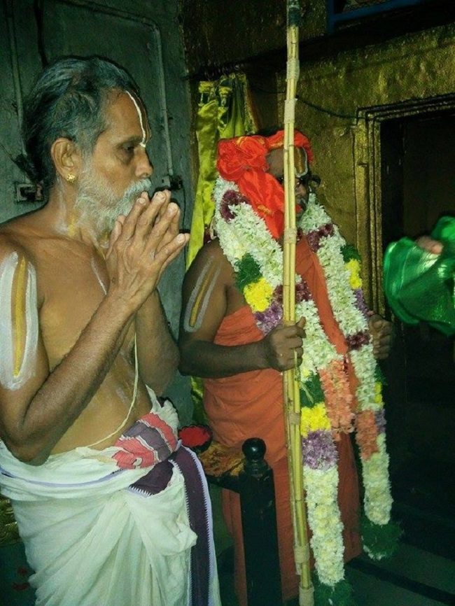 HH 46th Srimath Azhagiyasingar Mangalasasanam At Lower Ahobilam Sri Prahaladavardan Temple4