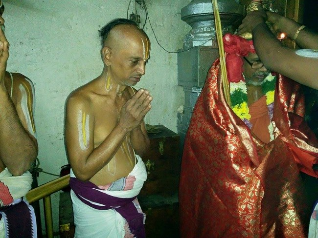 HH 46th Srimath Azhagiyasingar Mangalasasanam At Lower Ahobilam Sri Prahaladavardan Temple6