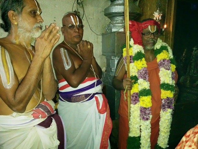 HH 46th Srimath Azhagiyasingar Mangalasasanam At Lower Ahobilam Sri Prahaladavardan Temple7