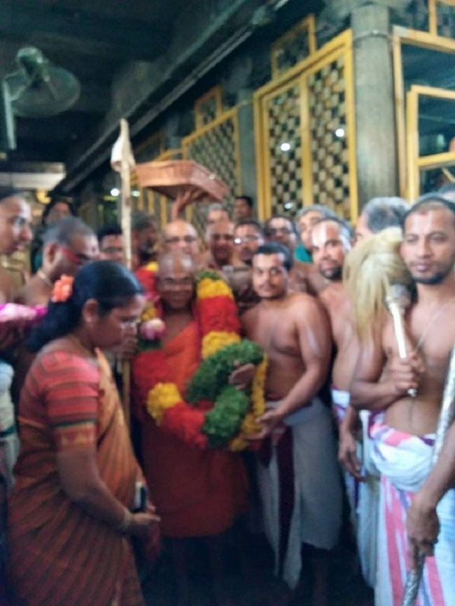 HH 46th Srimath Azhagiyasingar Mangalasasanam At Thiruchanoor Sri Padmavathi Thayar Temple14