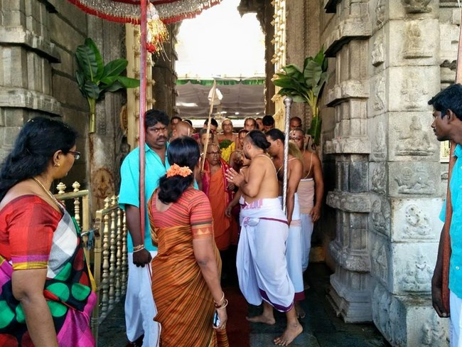 HH 46th Srimath Azhagiyasingar Mangalasasanam At Thiruchanoor Sri Padmavathi Thayar Temple3