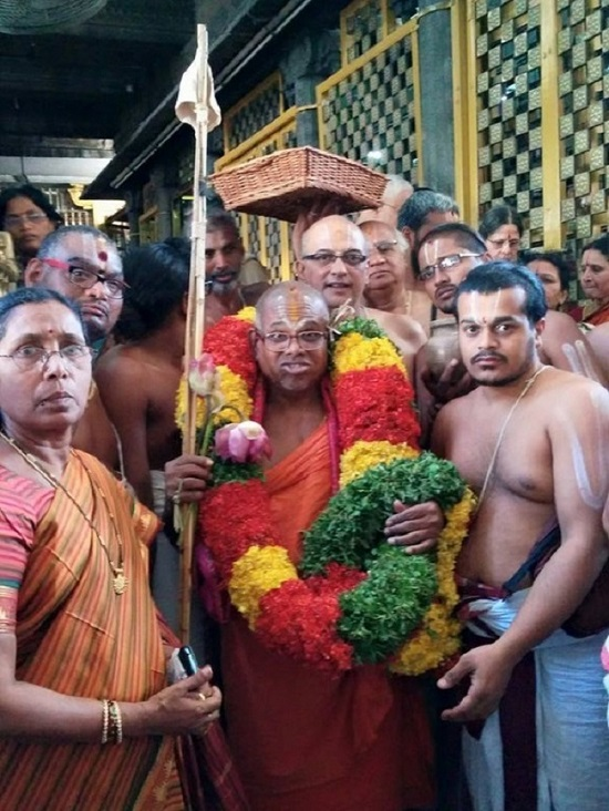 HH 46th Srimath Azhagiyasingar Mangalasasanam At Thiruchanoor Sri Padmavathi Thayar Temple9