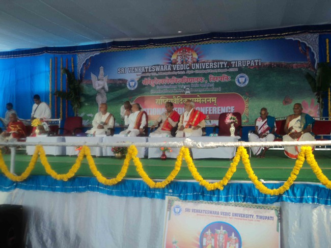 Tirupati veda Vedanga and Shastra Conference in sanskrit-2015-06