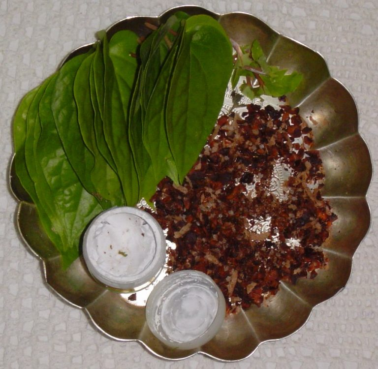 Thambulam/Betel leaves and its significance