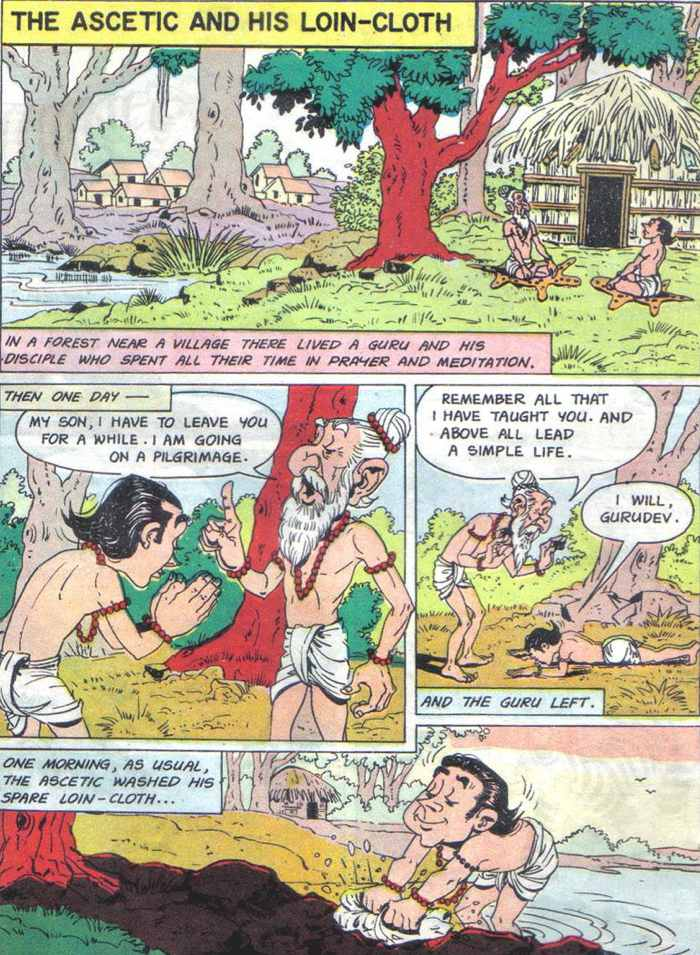 Ascetic and his Loin-cloth – Comic
